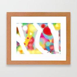Color and white light Framed Art Print