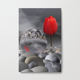 tulip, pebbles and breaking light Metal Print