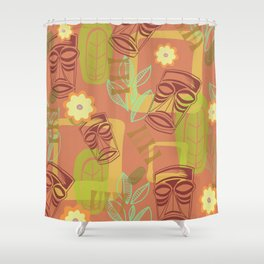 Happy Hour At The Tiki Room Shower Curtain