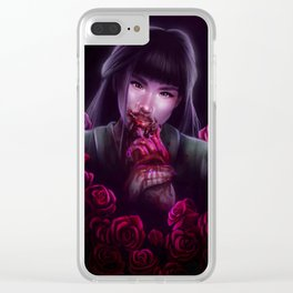 Dangerous as a Rose Clear iPhone Case