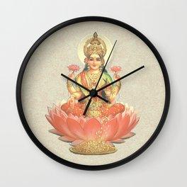 Lakshmi, Goddess of Love (Coral) Wall Clock