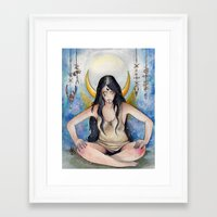 pagan Framed Art Prints featuring Pagan Soul by Aline Boni