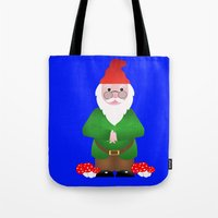 gnome Tote Bags featuring Gnome by lescapricesdefilles