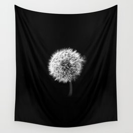 Black and White Dandelion Wall Tapestry