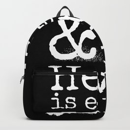 Shakespeare Quote, The Tempest, Devils Are Here Backpack