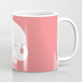 Mod Baby Elephant Coral Coffee Mug