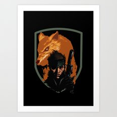 METAL GEAR: The Snake and the Fox Art Print