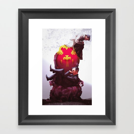 Kings of Heaven and Hell Framed Art Print
