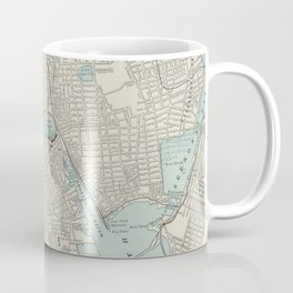 Vintage Map of Providence Rhode Island (1901) Coffee Mug