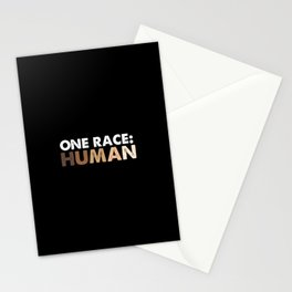 One Race Human Race Stationery Cards