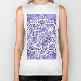 Mandala Lavender Colorburst Biker Tank
