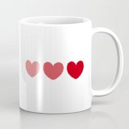 Three fuzzy hearts Coffee Mug