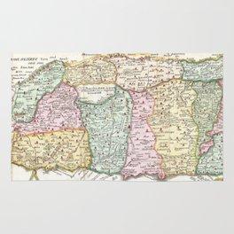 Vintage Map of Israel (1632) Rug