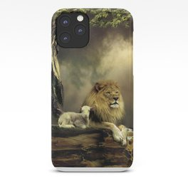 The Lion & the Lamb iPhone Case