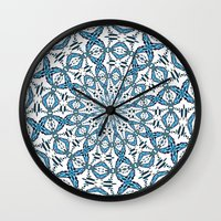 snowflake Wall Clocks featuring Snowflake by Stay Inspired