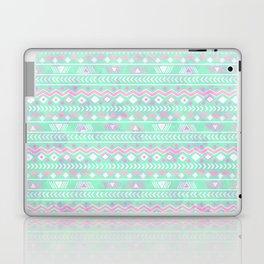 Pink teal watercolor tribal geometrical pattern Laptop & iPad Skin
