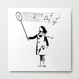Music Catcher Metal Print