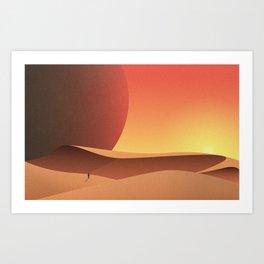Intergalactic Sunset Art Print