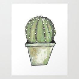 Cactus cirkel Art Print