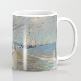 Vincent van Gogh - Fishing Boats on the Beach at Les Saintes-Maries-de-la-Mer Coffee Mug