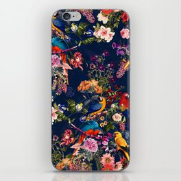FLORAL AND BIRDS XII iPhone Skin
