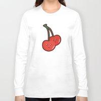kawaii Long Sleeve T-shirts featuring Kawaii Cherry by Nir P