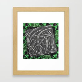 Junction - green/black graphic Framed Art Print