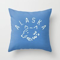 alaska Throw Pillows featuring Alaska by Roland Lefox