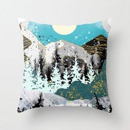 mountains of gold Throw Pillow