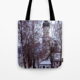 Concept Baden-Wurttemberg : Chapel with Cemetery in Laupheim Tote Bag