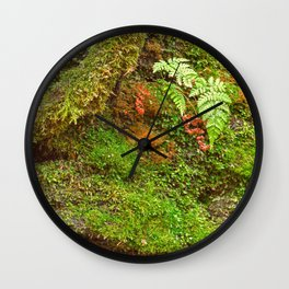 Moss Hysteria Wall Clock