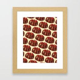 Cake Pattern - Bundt Framed Art Print
