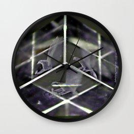 Prisim Flock Wall Clock