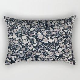 terrazzo shades of grey Rectangular Pillow