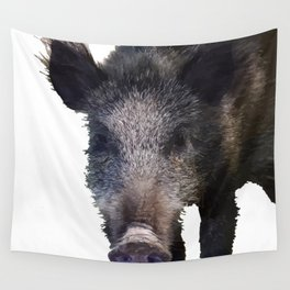 Crazy As A Peach Orchard Boar Vector Wall Tapestry