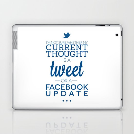 Social Media Laptop & iPad Skin