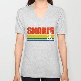 Snakes Hipster Tee Shirt Unisex V-Neck