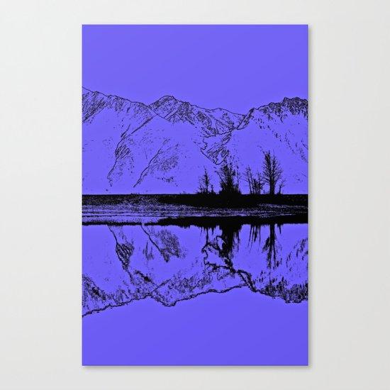 Knik River Mts. Pop Art - 1 Canvas Print