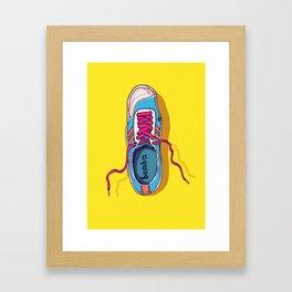 My lovely shoe Framed Art Print