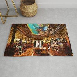 Chateau sur Mer Dining Room Watercolor - Newport Mansion Series - Jéanpaul Ferro Rug