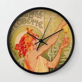 Classic French art nouveau Absinthe Robette Wall Clock