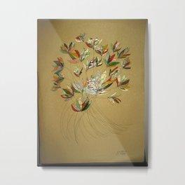 Jewel in the Flower Metal Print