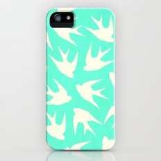 Birds (Mint) Slim Case iPhone (5, 5s)