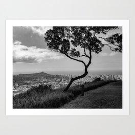 Honolulu Noir Art Print
