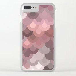 Pink Scales Clear iPhone Case