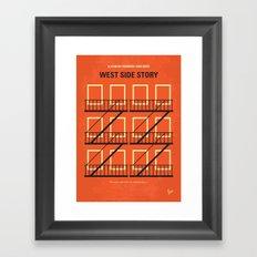 No387 My West Side Story minimal movie poster Framed Art Print