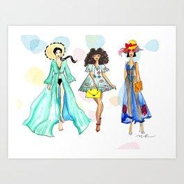 Summer Girls Art Print