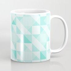 All Turquoise Triangle Pattern Mug