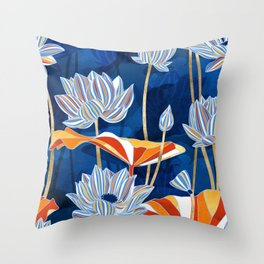 Bold Botanical Throw Pillow