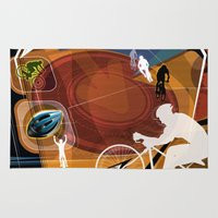 cycling Area & Throw Rugs featuring Cycling by Robin Curtiss